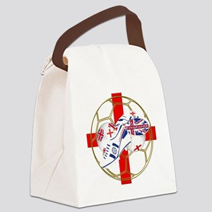 England football and boot crest Canvas Lunch Bag