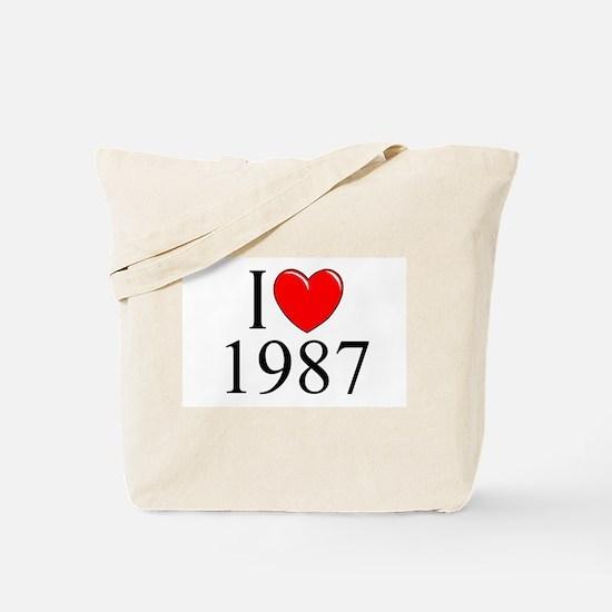 """I Love 1987"" Tote Bag"