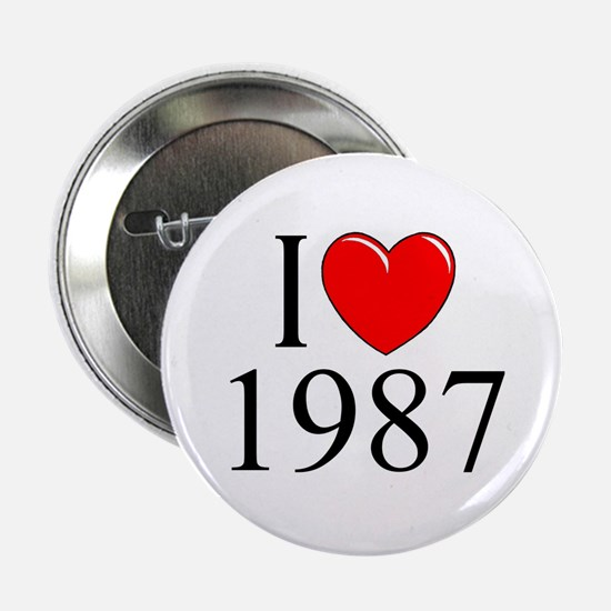 """""""I Love 1987"""" Button"""