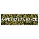 Give Peas a Chance Bumper Sticker