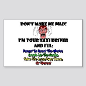 Taxi Driver Rectangle Sticker