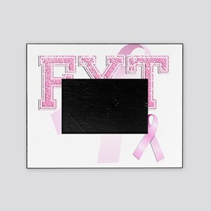 FYT initials, Pink Ribbon, Picture Frame