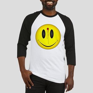 Bleeding Smiley Face Baseball Jersey