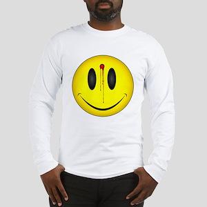 Bleeding Smiley Face Long Sleeve T-Shirt