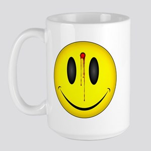 Bleeding Smiley Face Large Mug
