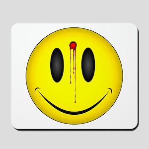Bleeding Smiley Face Mousepad