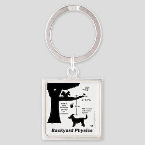physics Square Keychain