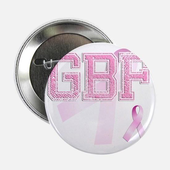 "GBF initials, Pink Ribbon, 2.25"" Button"