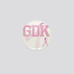 GDK initials, Pink Ribbon, Mini Button
