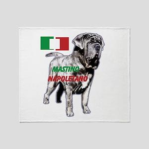 Neapolitan mastiff by madeline wilson Throw Blanke