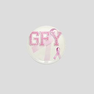 GFY initials, Pink Ribbon, Mini Button