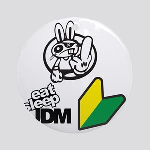 Eat Sleep JDM Bunny Round Ornament