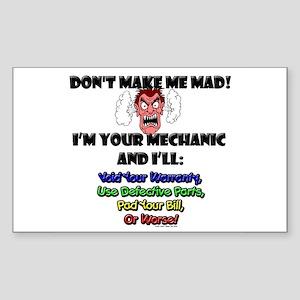 Mechanic Rectangle Sticker