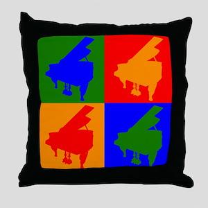 Piano Pop Art Throw Pillow