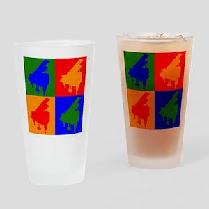 Piano Pop Art Drinking Glass