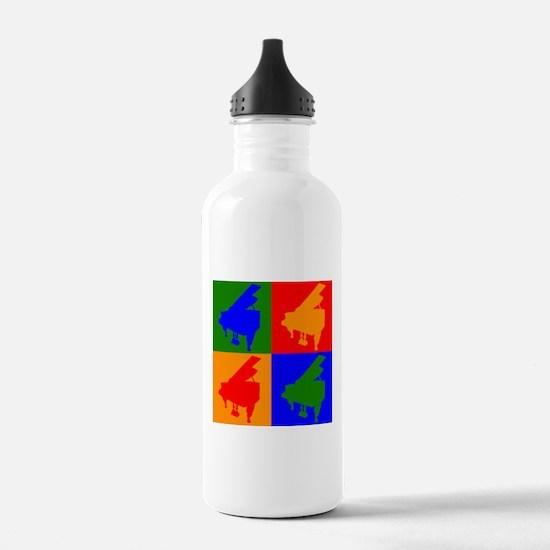 Piano Pop Art Water Bottle