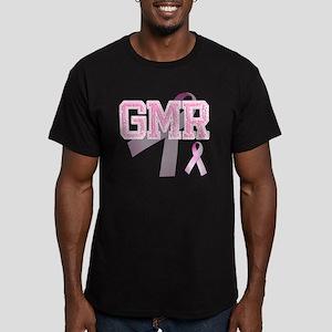 GMR initials, Pink Rib Men's Fitted T-Shirt (dark)