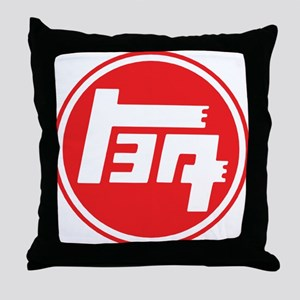 TEQ logo red large Throw Pillow