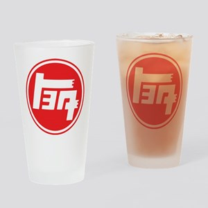 TEQ logo red large Drinking Glass