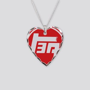 TEQ logo red large Necklace Heart Charm