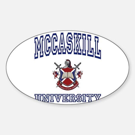 MCCASKILL University Oval Decal