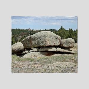 IMG_9053 Rock Pile Throw Blanket