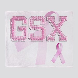 GSX initials, Pink Ribbon, Throw Blanket