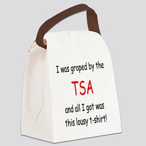 lousy TSA t-shirt Canvas Lunch Bag