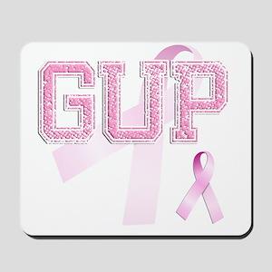 GUP initials, Pink Ribbon, Mousepad