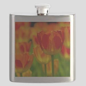 Orange tulip Flask