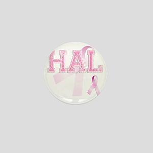 HAL initials, Pink Ribbon, Mini Button