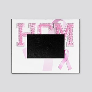 HCM initials, Pink Ribbon, Picture Frame