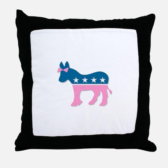 ::: Democratic Donkey Pink/Blue ::: Throw Pillow