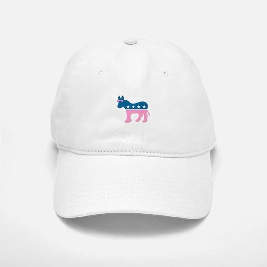 ::: Democratic Donkey Pink/Blue ::: Baseball Baseball Cap