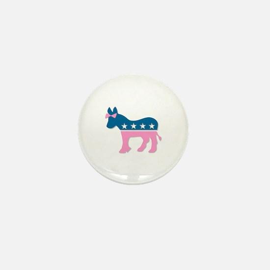 ::: Democratic Donkey Pink/Blue ::: Mini Button