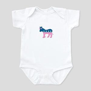 ::: Democratic Donkey Pink/Blue ::: Infant Bodysui