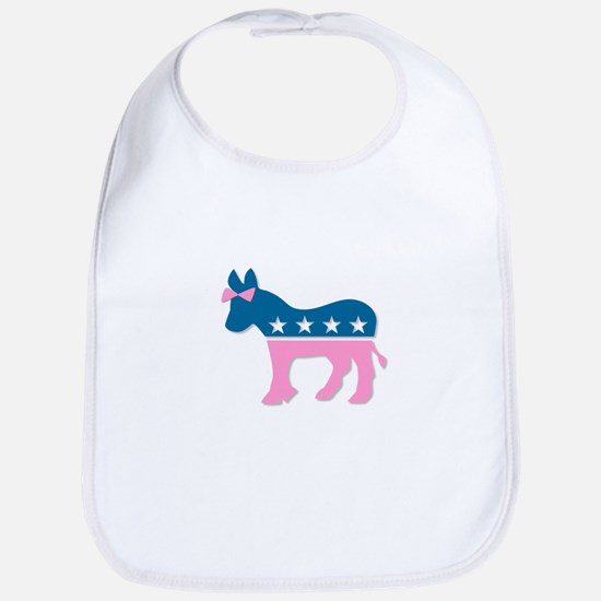 ::: Democratic Donkey Pink/Blue ::: Bib