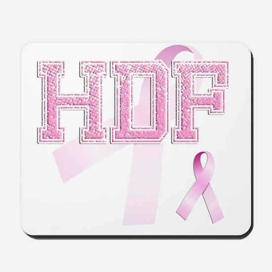 HDF initials, Pink Ribbon, Mousepad
