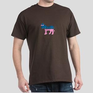 ::: Democratic Donkey Pink/Blue ::: Dark T-Shirt