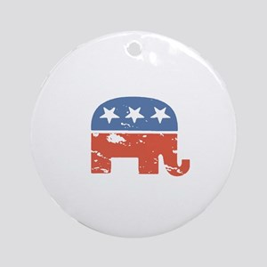 Mitt is the Shit Round Ornament