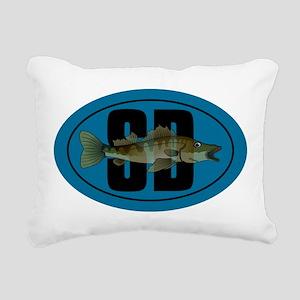 Walleye SD Rectangular Canvas Pillow
