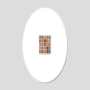 Art of Navajo Weaving 20x12 Oval Wall Decal