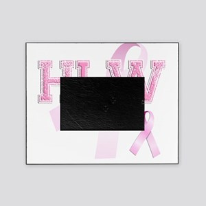 HLW initials, Pink Ribbon, Picture Frame