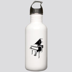 Black And White Piano Water Bottle