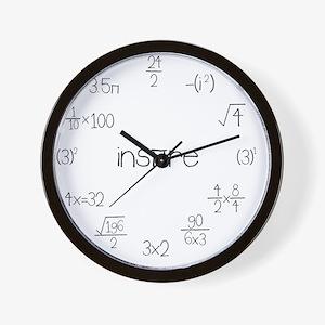 Large Wall Math Clock Wall Clock