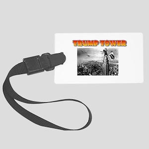 KING KONG - TRUMP TOWER - PARODY Large Luggage Tag