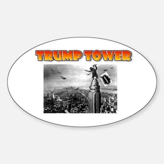 KING KONG - TRUMP TOWER - PARODY Sticker (Oval)