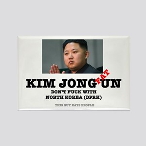 KIM JOHN FAT UN - DPRK Rectangle Magnet