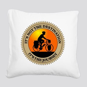 Its The Journey Square Canvas Pillow