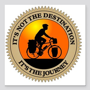 "Its The Journey Square Car Magnet 3"" x 3"""